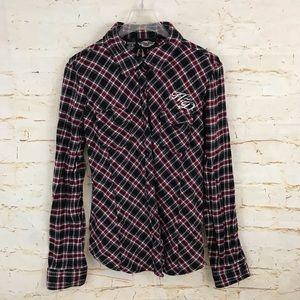 Harley Davidson M plaid button down shirt EUC